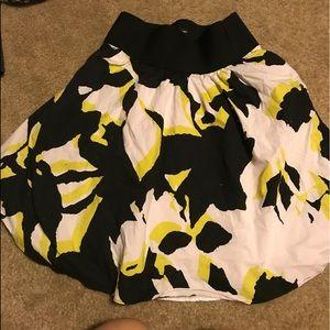 Black and yellow skirt